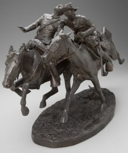 Fig. 7. Frederic Remington, The Wounded Bunkie, 1896. Bronze, (20 1/4 x 33 1/4 x 12 3/4 x in. (51.4 x 84.5 x 32.4 cm). Yale University Art Gallery, New Haven, Connecticut. Gift of the Artist.