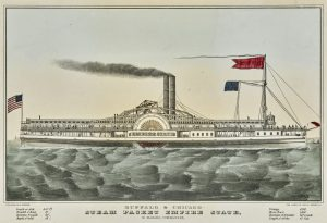 Fig. 15. Nathaniel Currier, lithographer, Buffalo & Chicago Steam Packet Empire State, n.d. Hand-colored lithograph. Yale University Art Gallery; Mabel Brady Garvan Collection.