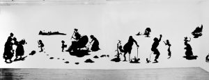 Fig. 3. Kara Walker, The End of Uncle Tom and the Grand Allegorical Tableau of Eva in Heaven, 1995. Cut paper and adhesive on wall, 13 x 35 feet. Courtesy of the artist and Sikkema Jenkins & Co., New York.