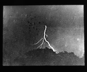 Fig. 3 William N. Jennings, First Photograph of Lightning, taken September 2, 1882, Philadelphia, 1882. Silver gelatin print. The Franklin Institute, Philadelphia.