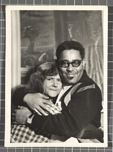 Fig. 1. Gertrude Abercrombie and Dizzy Gillespie in front of Abercrombie's Self-Portrait, the Striped Blouse, 1940 [PAFA, 2006.14], Gertrude Abercrombie Papers, Archives of American Art http://www.aaa.si.edu/collections/items/collection/gertrude-abercrombie-papers-5608