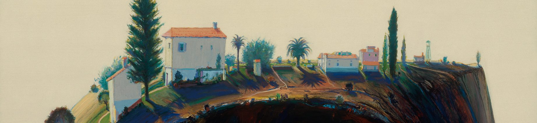 fabulous collection of pop art interior that will catch.htm city  river  mountain wayne thiebaud s california     panorama  city  river  mountain wayne thiebaud s